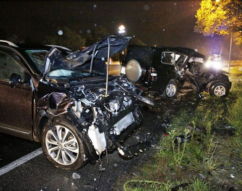 Accidente de este domingo en la curva de Curro.