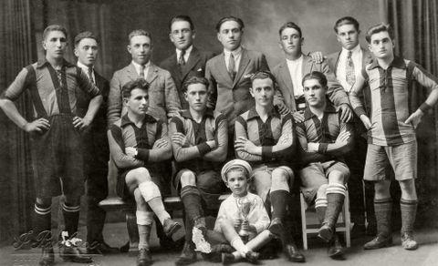 Equipo do Moaña Foot Ball Club, no ano 1925.