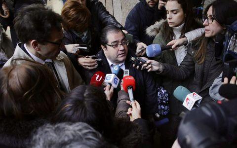 En el centro, Gerardo Crespo, el principal imputado de la trama.