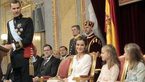 En la ceremonia de coronación de Felipe VI.