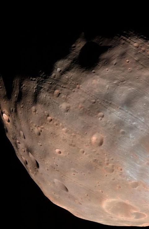 Imagen de la superficie de Fobos