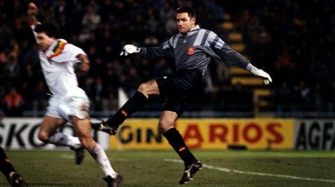 Cañizares, en un partido posterior contra Portugal en Balaídos, también siendo jugador del Celta