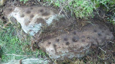 Petroglifos de tipo coviña o cazoleta en Casardecima