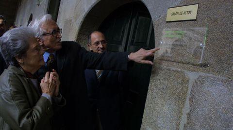 Los homenajes fueron una constante en su vida, (en la imagen del Instituto del monasterio de Celanova)
