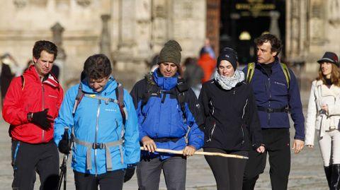 Fran Rivera ha hecho el camino acompañado de otras siete personas, entre ellas el torero Raúl Gracia, El Tato. Hoy le ha acompañado también su mujer.