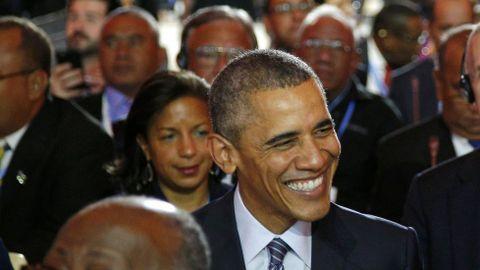 El secretario de Estado de Asuntos Europeos de Francia La sonrisa del presidente estadounidense Barack Obama.