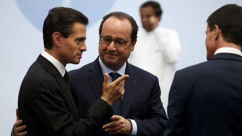 François Hollande con el presidente mexicano Peña Nieto.