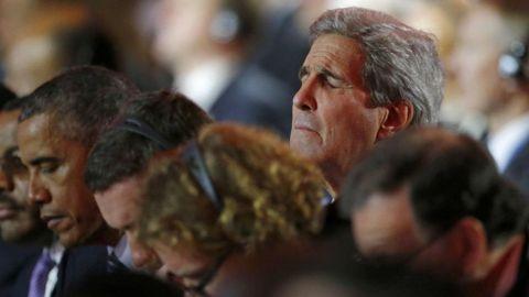 Obama y Kerry.