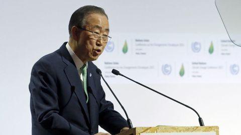 El secretario general de la ONU Ban Ki Moon.