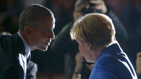 Obama y Merkel.