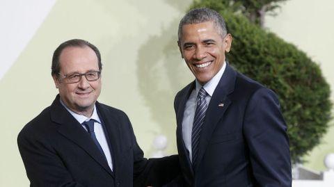Hollande con Obama.