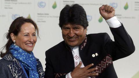 El presidente de Bolivia Evo Morales.