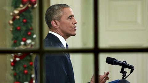 Obama habla desde el Despacho Obal