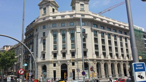 Otro de los edificios adquiridos en Barcelona, en el Paseo de Gracia.
