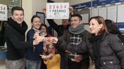 El premio vendido en Pontecesures.