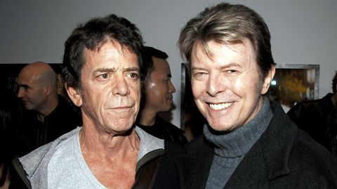 David Bowie junto a Lou Reed.