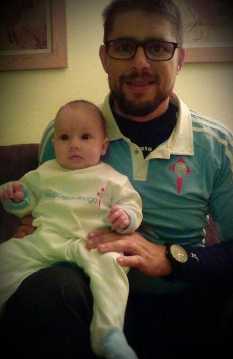 Sergio y la pequeña Indira