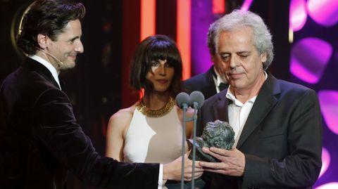 El productor Andrés Santana, Goya a la Mejor dirección de producción por su trabajo en «Nadie quiere la noche»