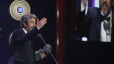 El actor Ricardo Darín recibe el Goya al mejor actor por su papel en «Truman»