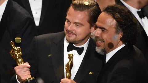 Dos de los ganadores de la noche, Leonardo di Caprio y Alejandro González Iñárritu.