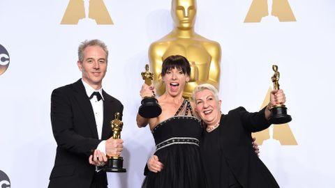 Lesley Vanderwalt, Elka Wardega y Damian Martin, mejor maquillaje y peluquería por «Mad Max»