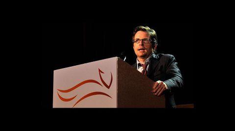 El actor Michael J. Fox, dedicado a la causa de las enfermedades.