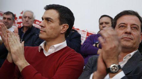 Pedro Sánchez, en un acto del PSOE coruñés