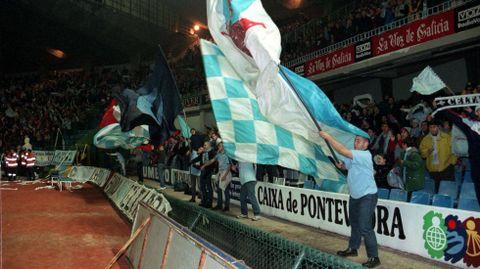 Afición en Balaídos durante el Celta-Benfica