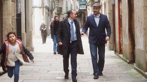 Santiago y Padrón refuerzan su hermanamiento en el lunes de Pascua