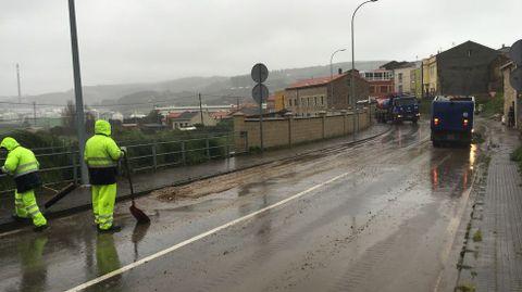 Casa inundada en Bens  Lluvias en A Coruña y comarca