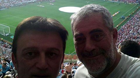 Co seu amigo Quinso vendo ao Celta en San Mamés