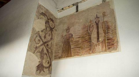 Pinturas murales en la iglesia de Santa María de Val do Mao