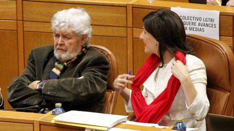 Yolanda Díaz y Beiras en el Parlamento