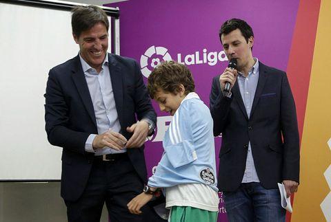 Eduardo Berizzo participó en un acto de la LFP pocas horas después de anunciarse su renovación por una temporada .