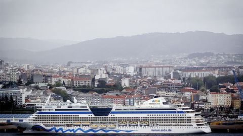 En la imagen, un crucero de Aida en Ferrol