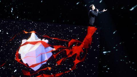 Actuación de Sergey Lazarev, de Rusia.