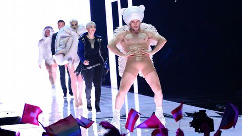 Un momento de la gala de Eurovisión en Suecia.