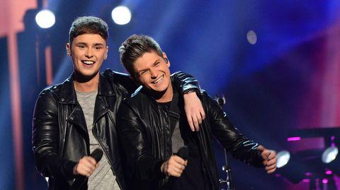 Actuación de Joe and Jake, de Gran Bretaña.