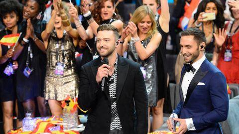 Justin Timberlake participó en la gala de Eurovisión.