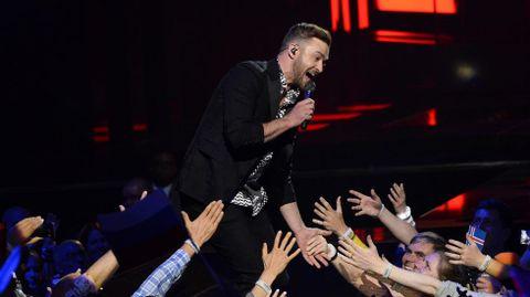 Actuación de Justin Timberlake.
