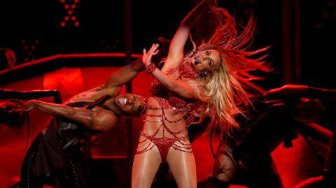 Actuación de Britney Spears durante la gala