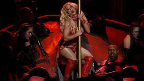 Otro momento de la actuación de Britney Spears.