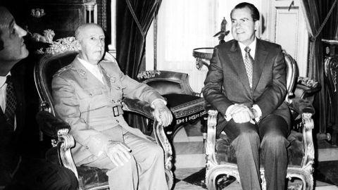 2 de octubre de 1970. Richard M. Nixon y Franco departieron durante una hora y media en el Pardo y cenaron en el Palacio de Oriente