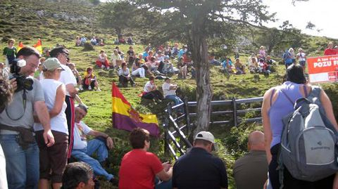 Homenaje en el pozo Funeres (Laviana)