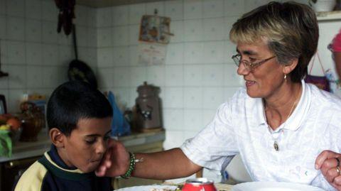 Imagen de archivo. Hamma, niño saharaui que en el 2000 participó en el programa «Vacaciones en paz», en Ferrol.