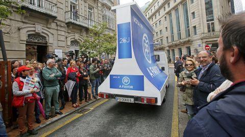 Acto del candidato del PSOE Pedro Sanchez en Pontevedra