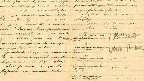Una de las cartas de Enrique Granados rescatadas por Miriam Perandones