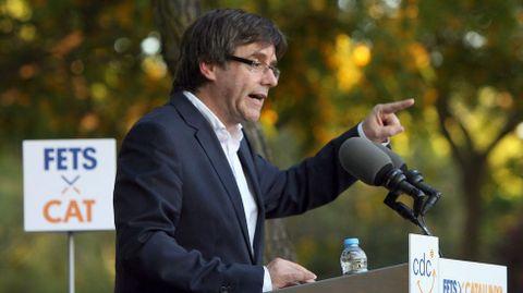 Carles Puigdemont, en una imagen de la campaña electoral