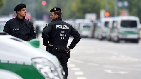 Vigilancia en las calles de Múnich.