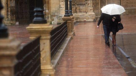 Lluvia en Oviedo